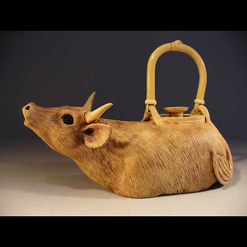 Handmade Functional Cow Teapot
