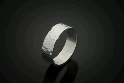"Laurie Schutt Jewelry ""Hammered Silver"" Ring"