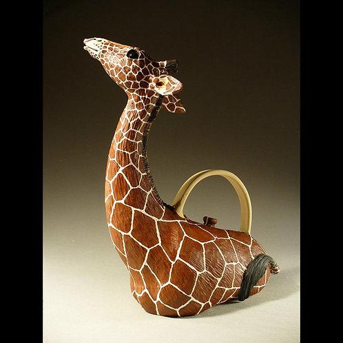 Handmade Functional Giraffe Teapot
