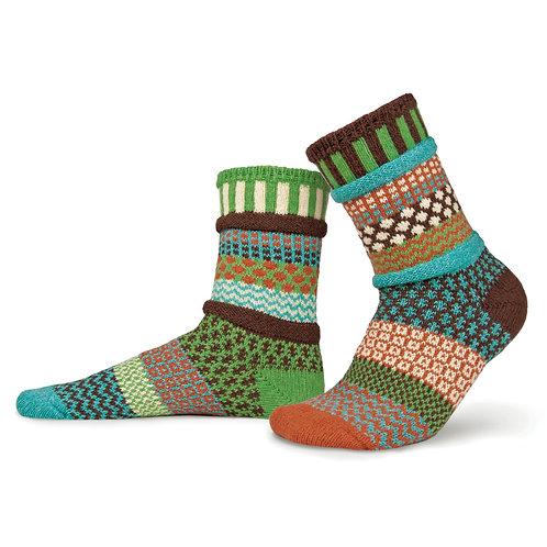 Recycled fiber Mismatch Socks September Sun pattern