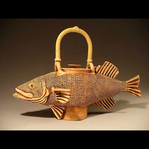 Handmade Functional Small Fish Teapot