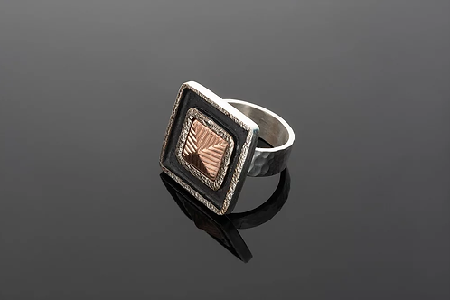 "Laurie Schutt Jewelry ""Rose Gold Squared"" Ring"
