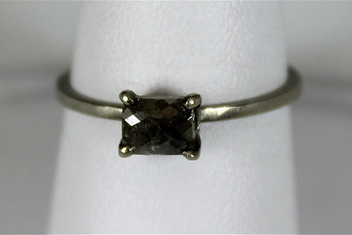 Jennifer Dawes Silver Opaque Diamond Band in 14 KT White Gold