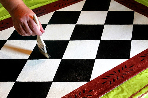 Make Your Own Painted Floorcloth - Wednesdays 10/6 - 11/3  5PM-6:30PM