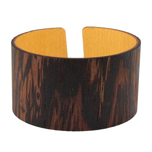 African Rosewood Flexible wooden cuff bracelet