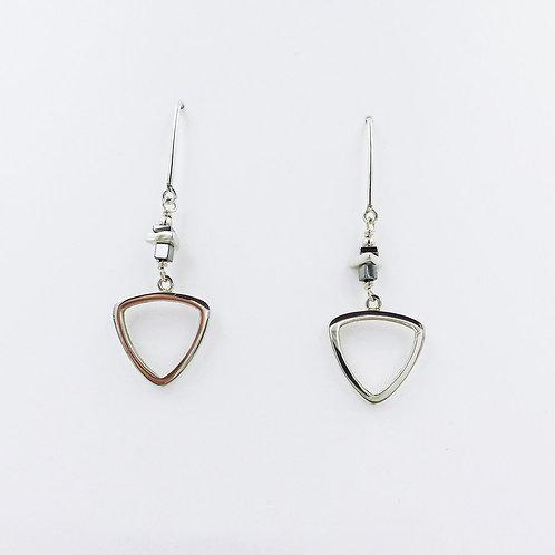 Arlee Kasselman -  Fine Silver Triangular Drop