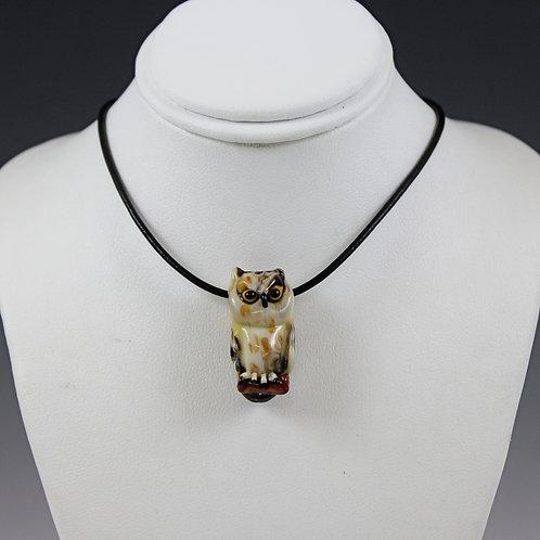Stefani Woodams Glass Owl Pendants - Short Eared Owl 2