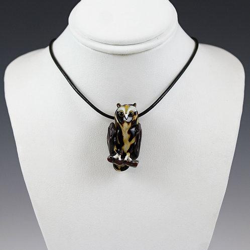 Stefani Woodams Glass Owl Pendants - Horned Owl