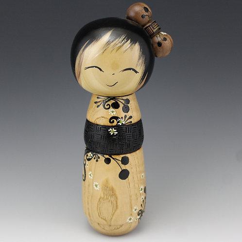 Hodsdon Kokeshi Doll - 56 - Wood: Ash