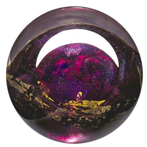 American made Glass Paperweight Planet Venus