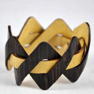 Wooden Cuff Bracelet African Rosewood Poplar