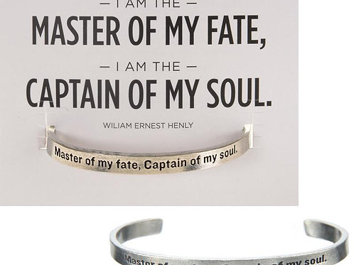 "Quotable Cuffs - ""Master of my fate, Captain of my soul."" - William Ernest Henly"
