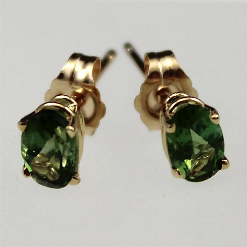 Cole Sheckler - Green Tourmaline Stud Earrings