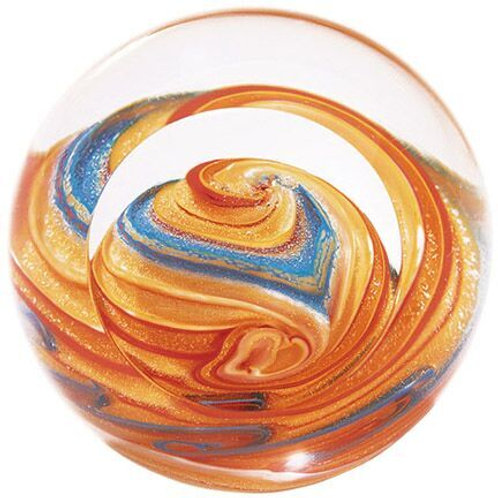 American made Glass Paperweight Planet Jupiter