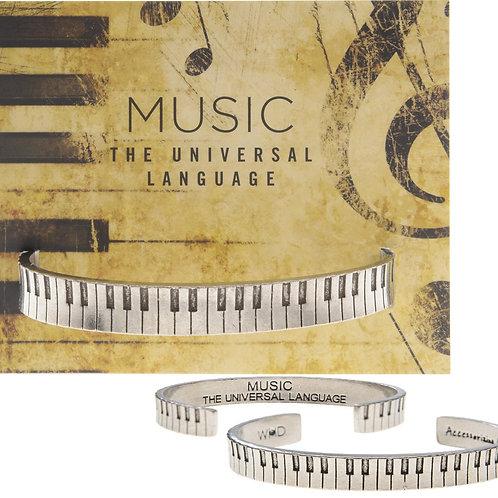 "Quotable Cuffs - ""MUSIC The Universal Language"" - Keys"