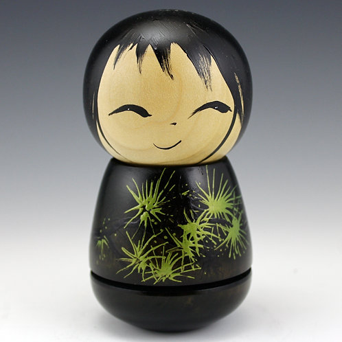 Hodsdon Kokeshi Doll - 38 - Wood: Cherry