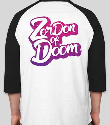 ZorDonofDoom Baseball Tee (Back)