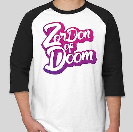 ZorDonofDoom Baseball Tee (Front)
