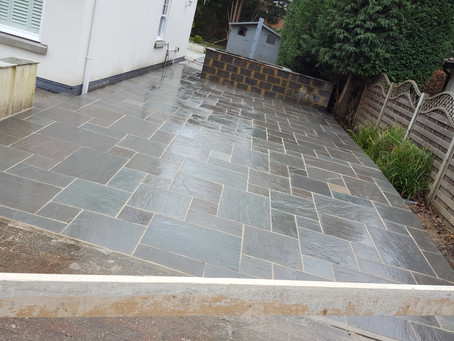 Large patio driveway in horsell