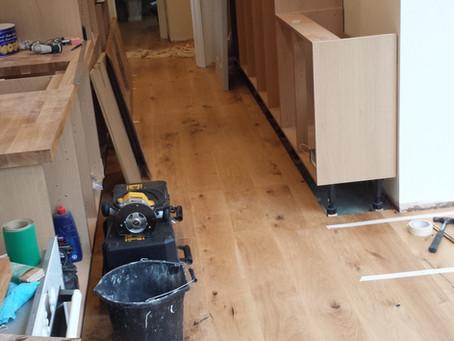 New Engineered Oak floor going in.