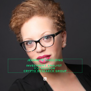 JEANNETE SPAULDING  INVESTMENT ANALYST   ICO ADVISOR  CRYPTO RESEARCH GROUP