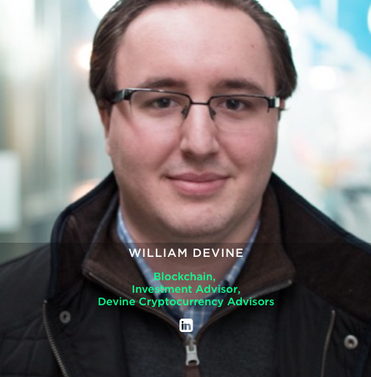 WILLIAM DEVINE Blockchain,  Investment Advisor, Devine Cryptocurrency Advisors