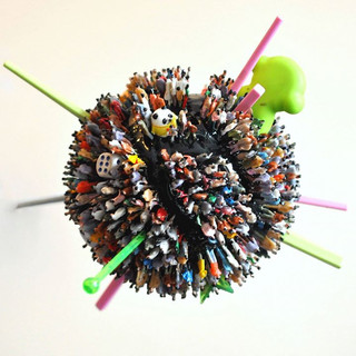 sculpture, spherical postcard