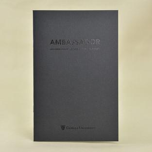 Capella Ambassador booklet cover with spot DMCL