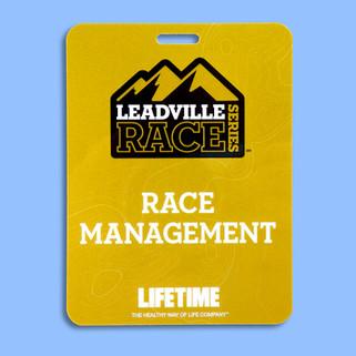 Leadville Race badge printed with Kodak Gold Metallic