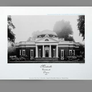 Monticello black-and gray duotone photo