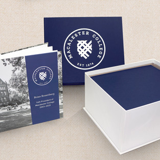 Macalester hard-cover book & turned-edge gift box