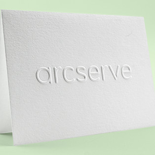 Arcserve embossed notecard