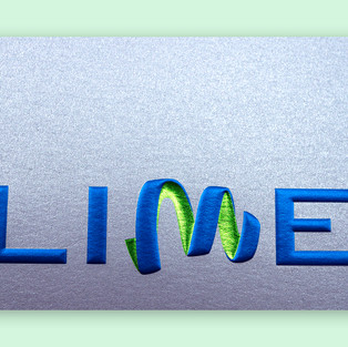 LIME foil-embossed sheet
