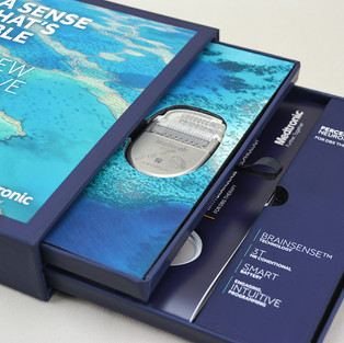 Medtronic product launch turned-edge 2-drawer display box