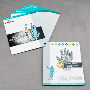 SCORR Marketing grommetted brochure with pocket cover