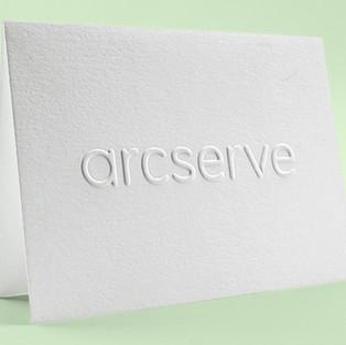 Arcserve embossed notecard