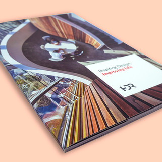 HDR perfect-bound case study booklet