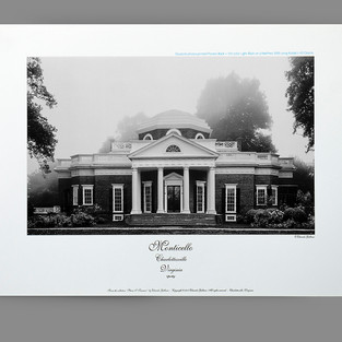 Monticello black-and gray duotone photo