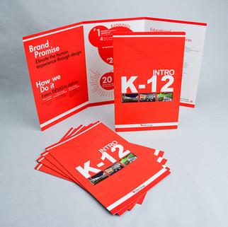 DLR K-12 Intro trifold with Kodak Red