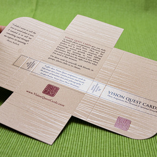 Vision Quest card deck wrap with Dimensional Clear texturing