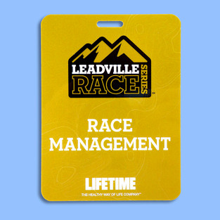 Leadville Race badge printed with Kodak Gold Metallic