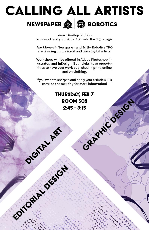 Digital Art Recruitment Poster