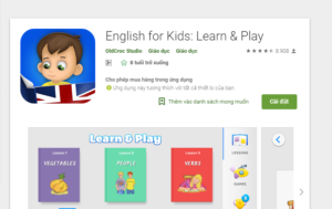 ScholaKids, App học tiếng anh cho trẻ, app English for Kids