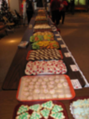 cookies ready for sale at our cookie walk