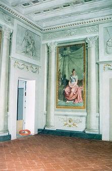 trompe l'oeil, trampantojo, decoracion, muebles, vintage, old, furniture, interiorismo, arte, pintura, silvia guzman, sgarte, murales, perspectiva, Palazzo Galletti, Florencia, Firenze, Italia, B&B