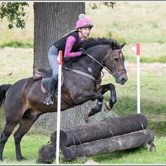 Chloe riding Jasper