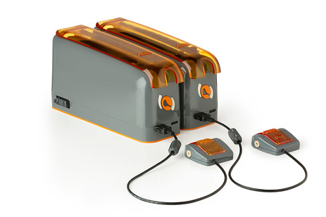 2 ExiGo plugged together with Flow sensor