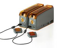 2 ExiGo plugged together with Flow senso