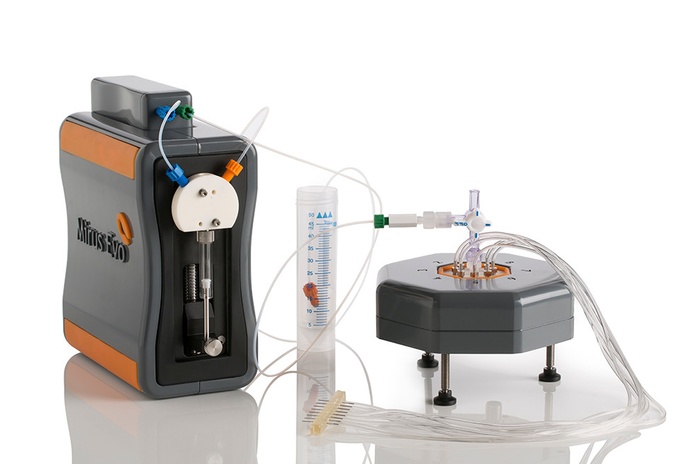 Mirus Evo 8-channel syringe pump