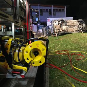 Verkehrsunfall und Brandeinsatz